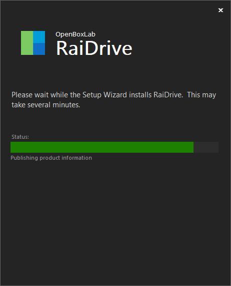 缙哥哥正在安装 RaiDrive 软件,这是 RaiDrive 软件的安装界面