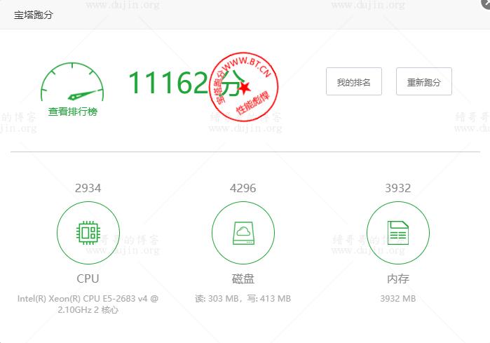 新睿云2H4G1M免费服务器宝塔跑分评测