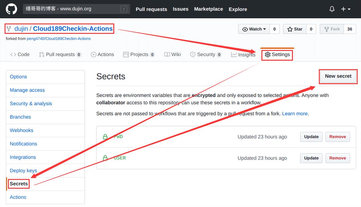使用GitHub给天翼云盘自动签到、抽奖,每月稳定增加3